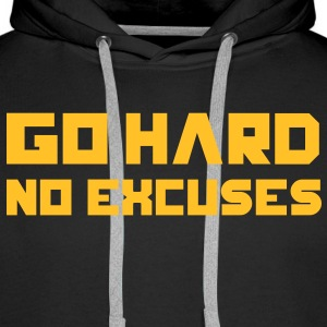 Go Hard. No Excuses. Gensere - Premium hettegenser for menn