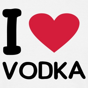 Wit I love vodka T-shirts - Mannen T-shirt