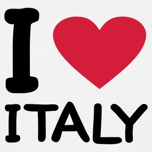 Wit I love Italy T-shirts - Mannen T-shirt