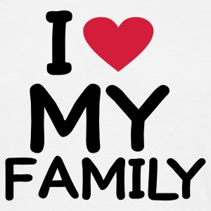 Wit I love my Family T-shirts - Mannen T-shirt