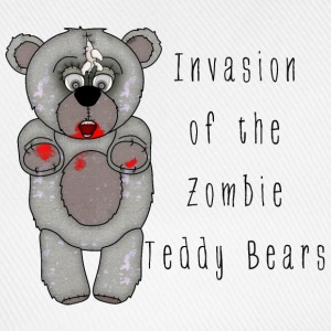 Funny Zombie Teddy Bear Invasion Cartoon - Baseball Cap