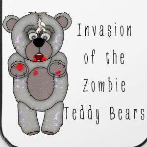 Funny Zombie Teddy Bear Invasion Cartoon - iPhone 4/4s Hard Case