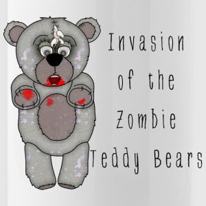 Funny Zombie Teddy Bear Invasion Cartoon - Water Bottle