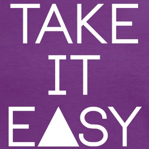 take it easy Magliette - Maglietta Contrast da donna