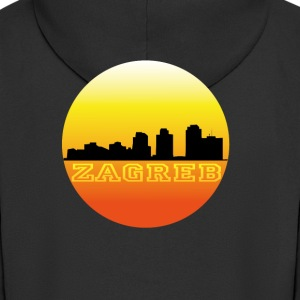 Zagreb by sunset Pullover & Hoodies - Men's Premium Hooded Jacket