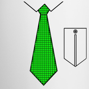 Green tie with pocket Bottles & Mugs - Mug