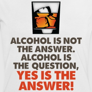 Alcohol Is Not The Answer 3 (dd)++2012 T-Shirts - Frauen Kontrast-T-Shirt