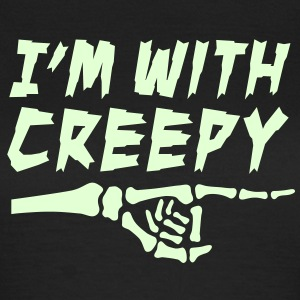 I'am with creepy T-shirts - Vrouwen T-shirt