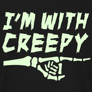 I'm with creepy T-Shirts - Männer T-Shirt