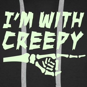 I'm with creepy Pullover & Hoodies - Männer Premium Hoodie