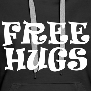 free hugs calin gratuit love Sweat-shirts - Sweat-shirt à capuche Premium pour femmes