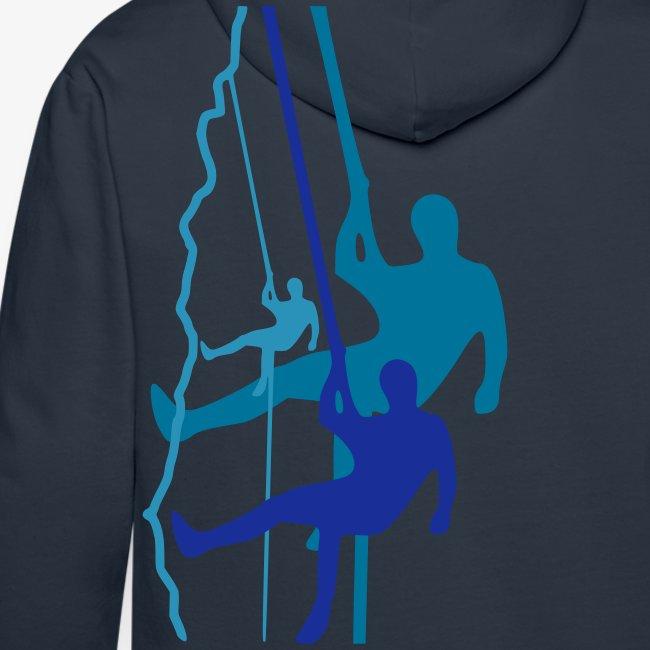 Drei Abseiler - dunkelblau (men)