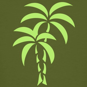 Palm Tree / Tattoo Style / Vector / T-shirts - Mannen Bio-T-shirt