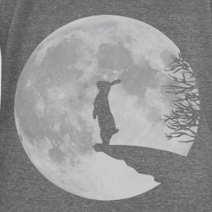 Deep heather Wolfinchen rabbit bunny bunnies hare jackass moon werewolf fullmoon ledge T-Shirts Hoodies & Sweatshirts - Women's Boat Neck Long Sleeve Top