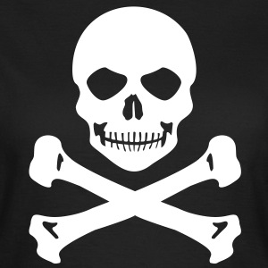 Piraten Totenkopf Grinsen Frauen T-Shirt - Frauen T-Shirt