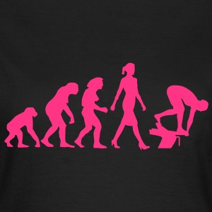 evolution_schwimmerin_102012_a_1c T-Shirts - Frauen T-Shirt