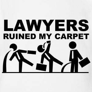 Lawyers ruined my carpet Magliette - Body ecologico per neonato a manica corta