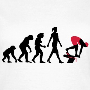 evolution_schwimmerin_102012_a_2c T-Shirts - Frauen T-Shirt