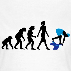 evolution_schwimmerin_102012_a_3c T-Shirts - Frauen T-Shirt