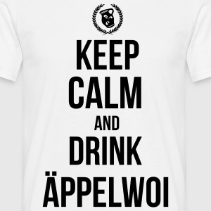 Keep calm an drink Äppelwoi T-Shirts - Männer T-Shirt