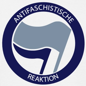 Antifaschistische Reaktion T-Shirt - Männer T-Shirt