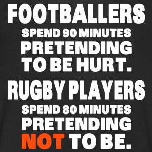 Footballers Pretend to Be Hurt T-Shirts - Men's V-Neck T-Shirt