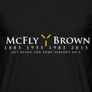 McFly / Brown  Election Design T-Shirts - Men's T-Shirt