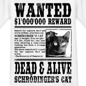 schrödinger's cat wanted black Shirts - Kids' T-Shirt