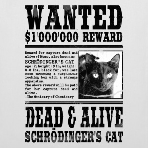 schrödinger's cat wanted black Bags  - Tote Bag