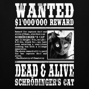 schrödinger's cat wanted white Bags  - Tote Bag