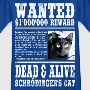 schrödinger's cat katze wanted weiss T-Shirts - Teenager T-Shirt