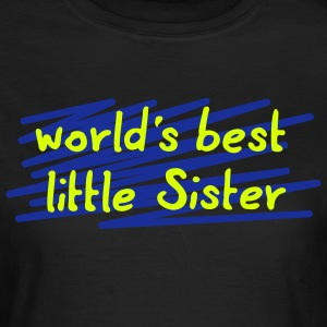 world's best little sis - 3 Farb Vektor T-Shirts - Frauen T-Shirt