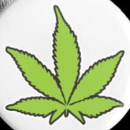 Motiv ~ 5x Pin-Buttons mit dem Hanfparade Hanfblatt