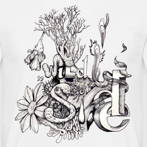Wild Side Intricate Artwork T-Shirt - Männer T-Shirt