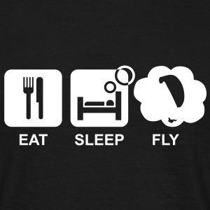 eat sleep fly 3 - Männer T-Shirt