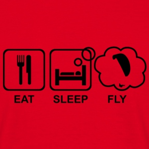 eat sleep fly 4 - Männer T-Shirt