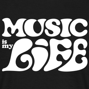 Music is my life. Muziek is mijn leven. T-shirts - Mannen T-shirt