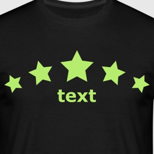 Schwarz star decoration v6 five stars arc 1c(© alteerian) T-Shirts - Männer T-Shirt