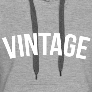 vintage old school  Sweat-shirts - Sweat-shirt à capuche Premium pour femmes