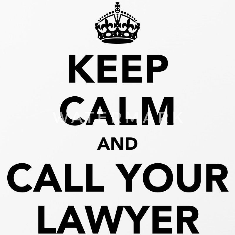 Keep Calm And Call Your Lawyer  - iPhone 4/4s Hard Case