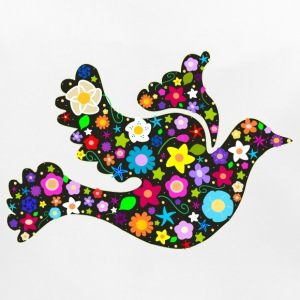 Flower Power floral bird of peace Accessories - Baby Organic Bib