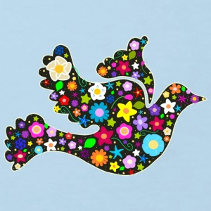 Flower Power floral bird of peace Shirts - Kids' Organic T-shirt