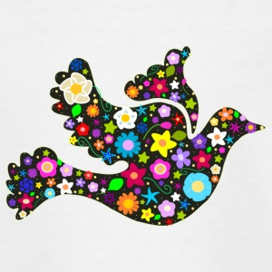 Flower Power floral bird of peace Shirts - Teenage T-shirt