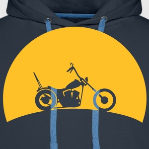 Chopper in the sunset  Hoodies & Sweatshirts - Men's Premium Hoodie