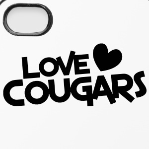 love cougars with heart funny cougar hunter Other - iPhone 4/4s Hard Case