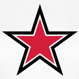 sharp red star with sharp black outline T-Shirts - Women's T-Shirt