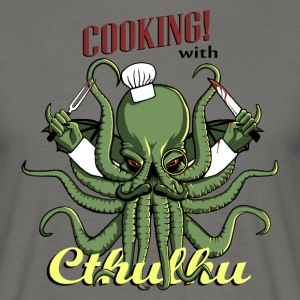 Moss green Cooking with Cthulhu! T-Shirts - Men's T-Shirt