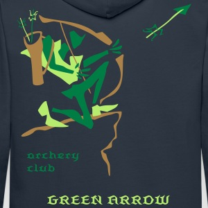 Green Arrow - Archery Club - Felpa con cappuccio premium da uomo