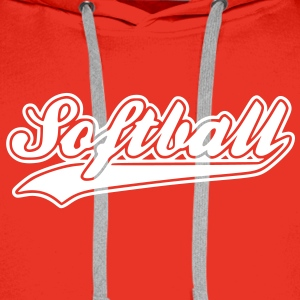 softball - Sweat-shirt à capuche Premium pour hommes