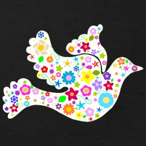 White Dove of Flowers and Peace Shirts - Kids' Organic T-shirt